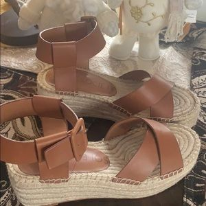 Sole Society Audrina Wedge Sandals size 6.5